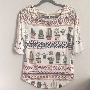 DNA Couture Southwestern Cactus Shirt